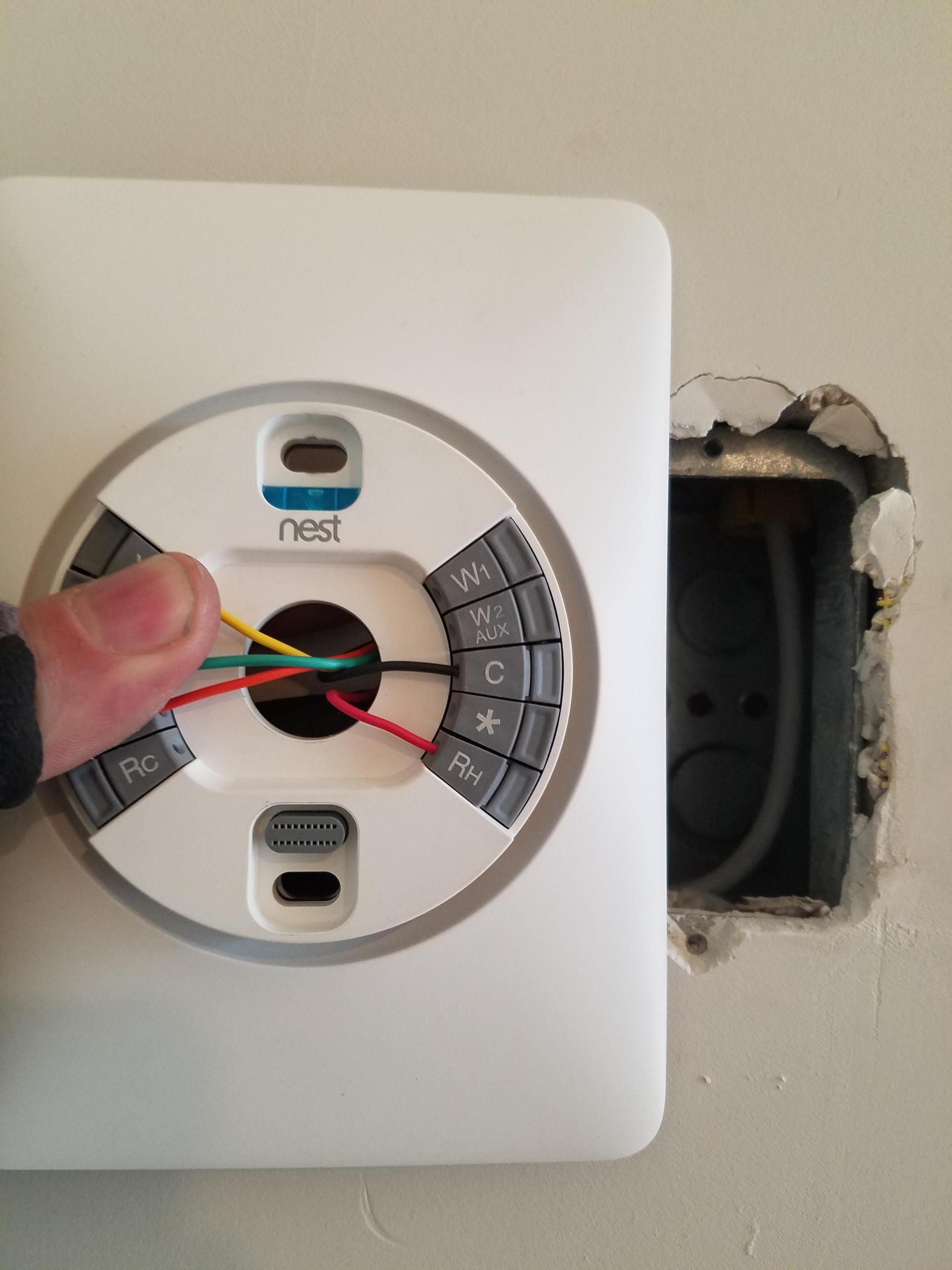 hight resolution of i m contracted to install these nest thermostats in a downtown condo nest thermostat wiring plate