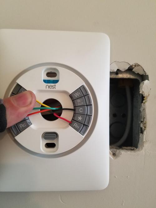small resolution of i m contracted to install these nest thermostats in a downtown condo nest thermostat wiring plate