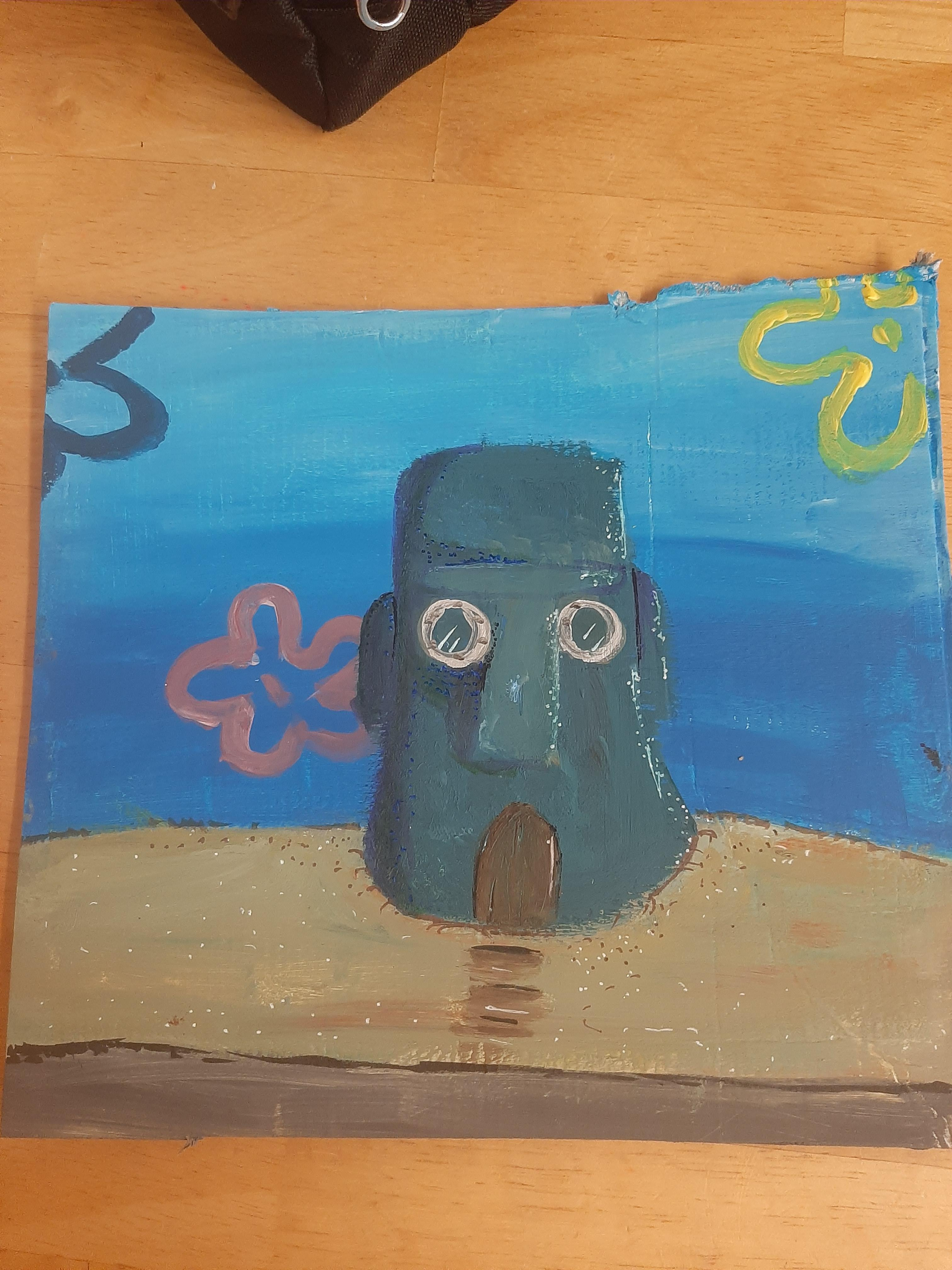 Spongebob House Painting : spongebob, house, painting, Second, Finished, Painting, Spongebob, Series, (spongebob, House, Almost, Done)