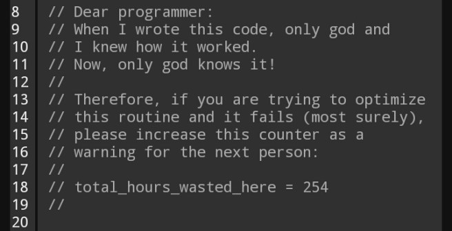 Only God and I knew : ProgrammerHumor