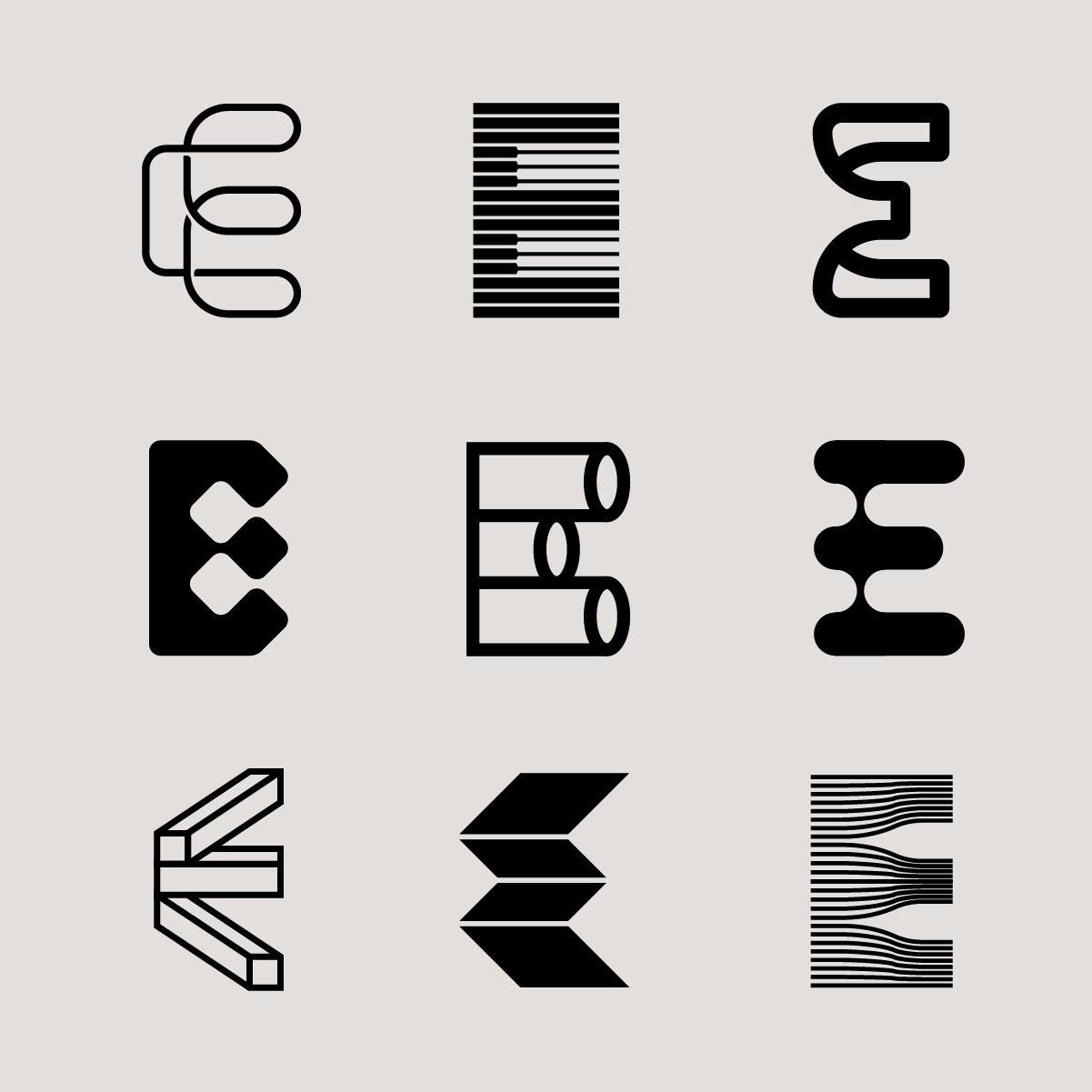 Letter E exploration : logodesign