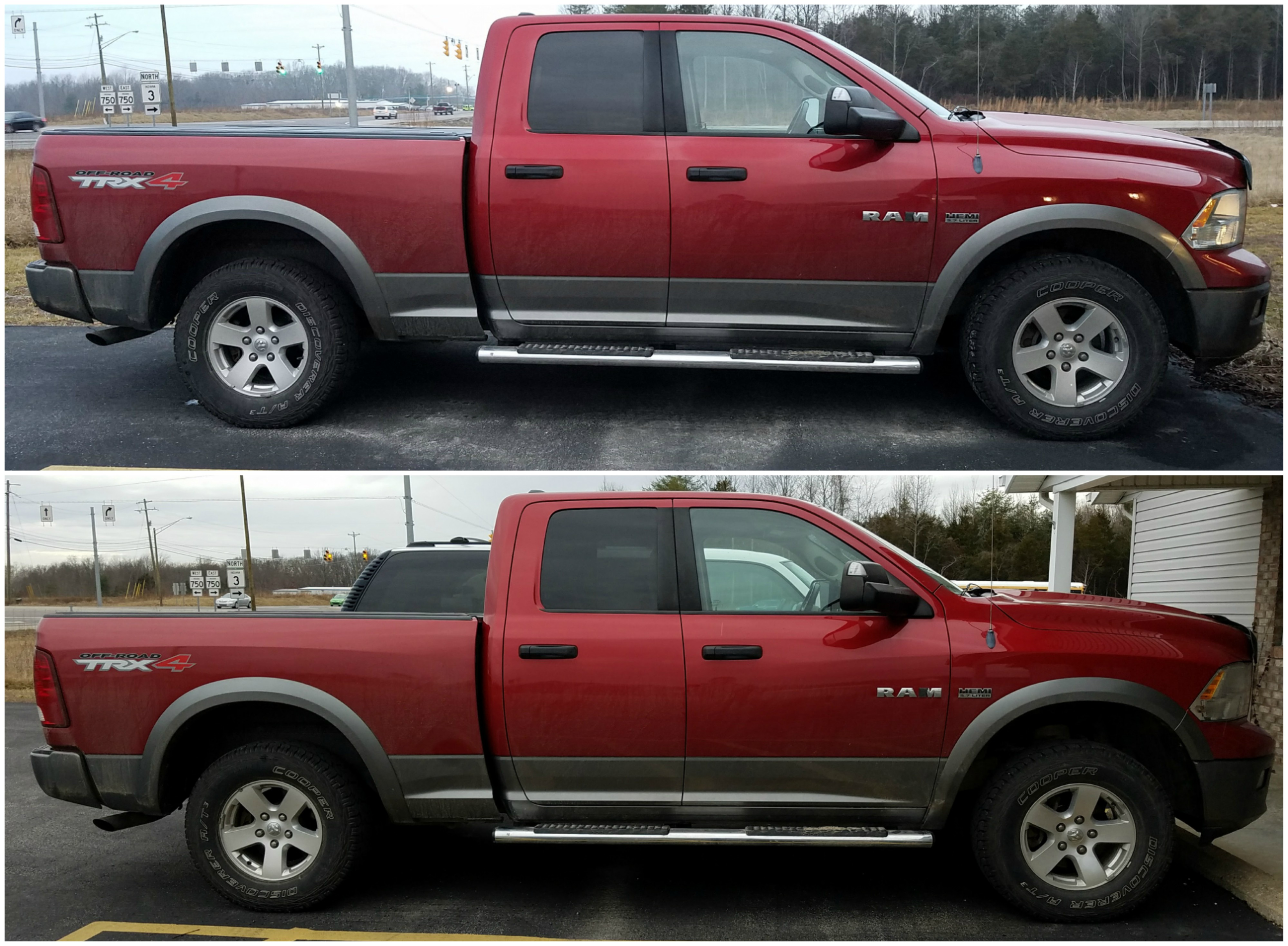 Dodge Ram Before After Leveling Kit Trucks