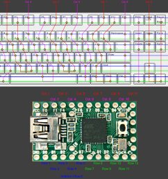 help help i ve planned my matrix and teensy pinout for a custom 108 5 keyboard does this look right  [ 1500 x 900 Pixel ]