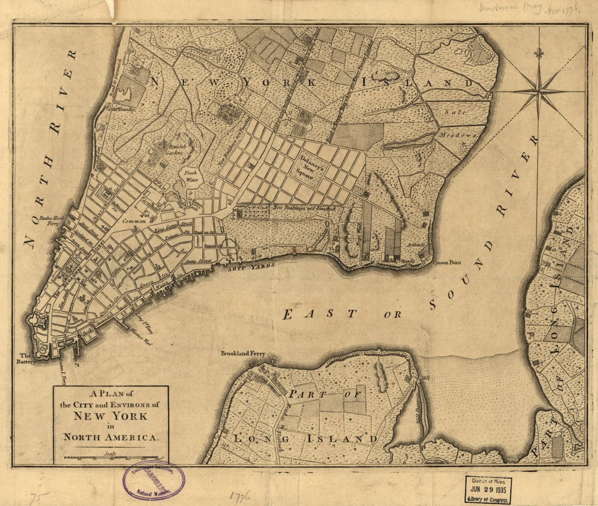 Revolutionary War Era Map Of New York X Map