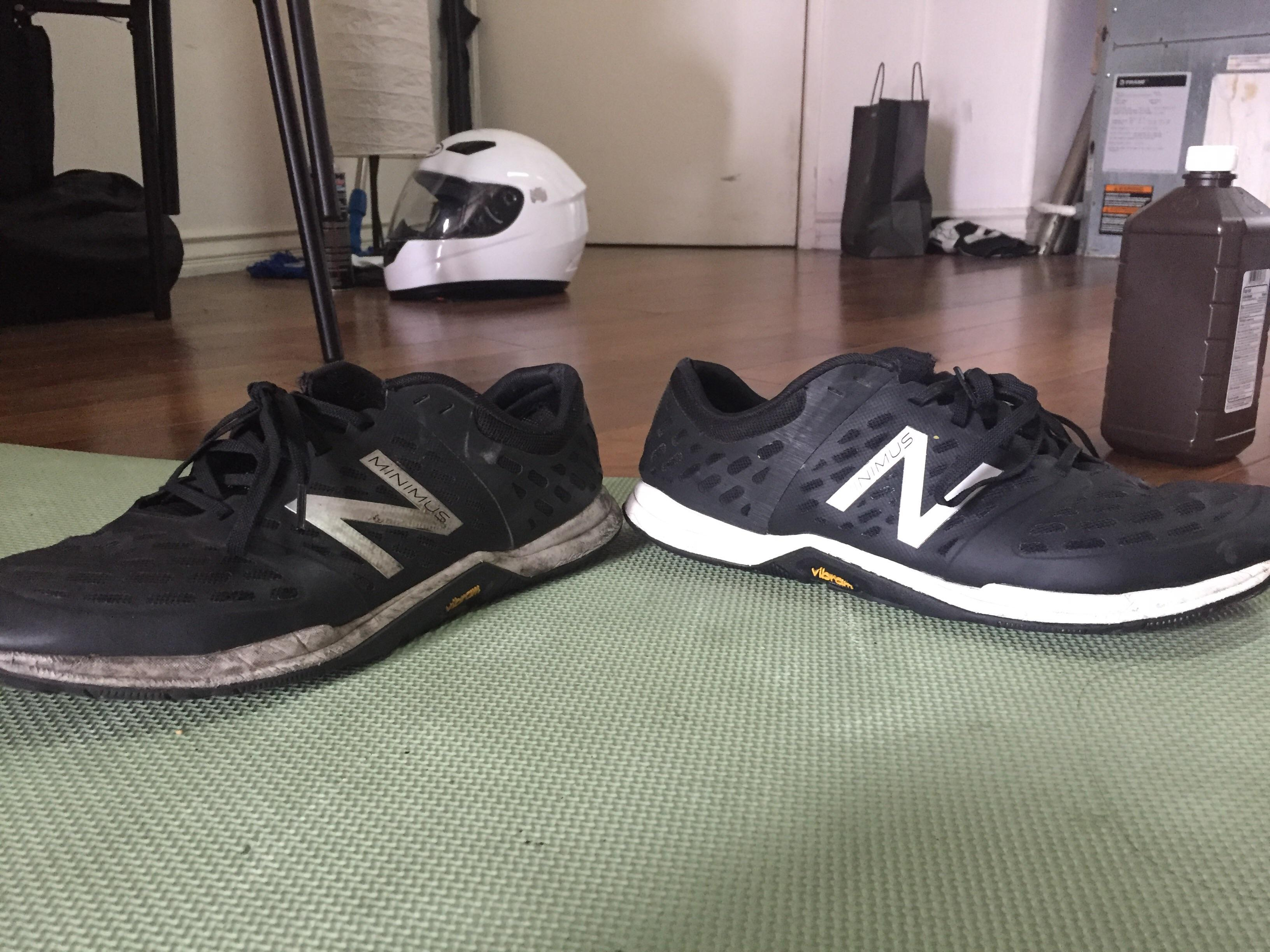 My gym shoes after a serious deep clean, 1/2 tablespoon hydrogen peroxide, (Peroxide/Baking ...