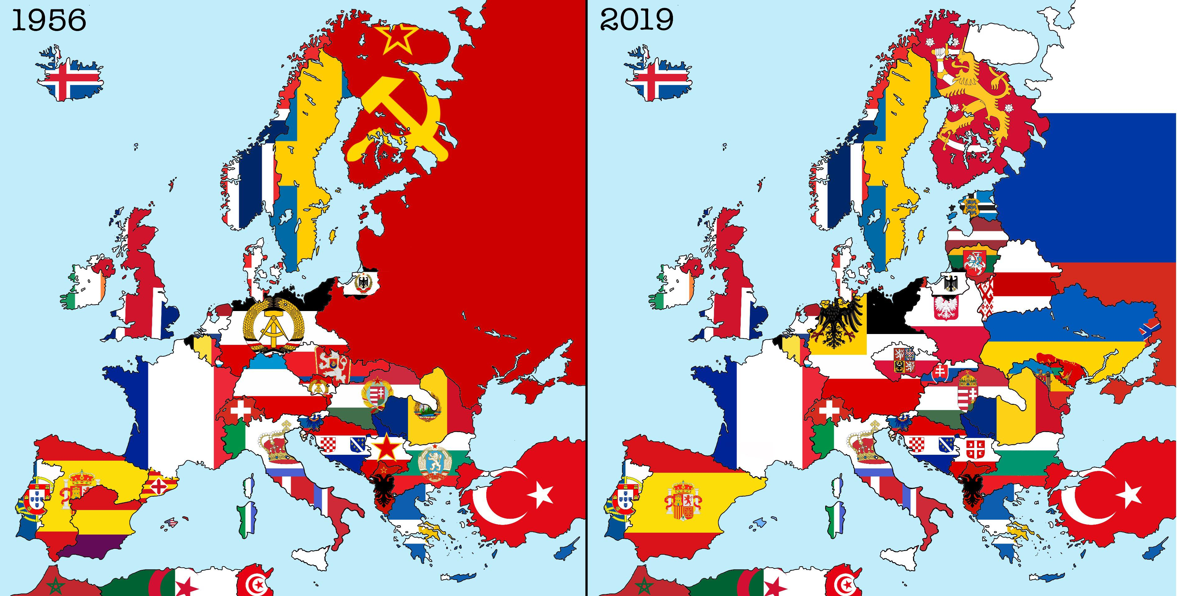 Flag Map Of My Alternative Cold War Scenario Vexillology