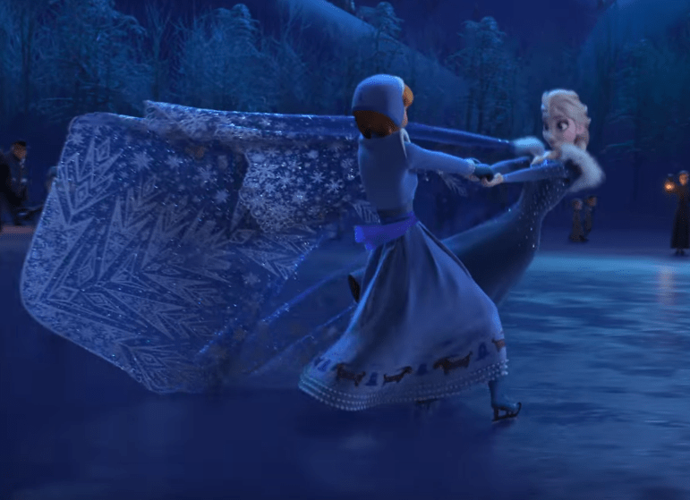 A still from the trailer for Olafs Frozen Adventure