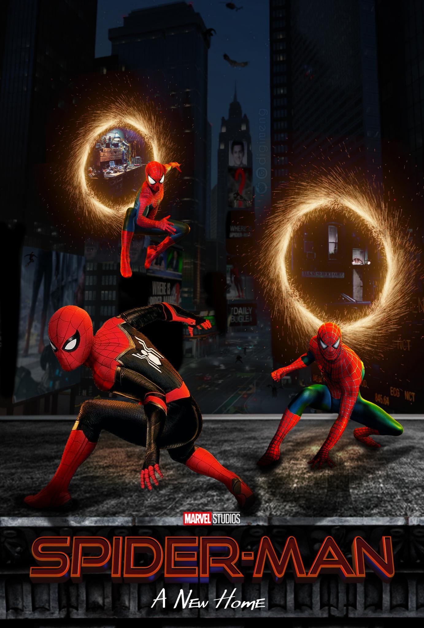 Live Action Spider Verse : action, spider, verse, Action, Spider-verse, Poster., Spiderman
