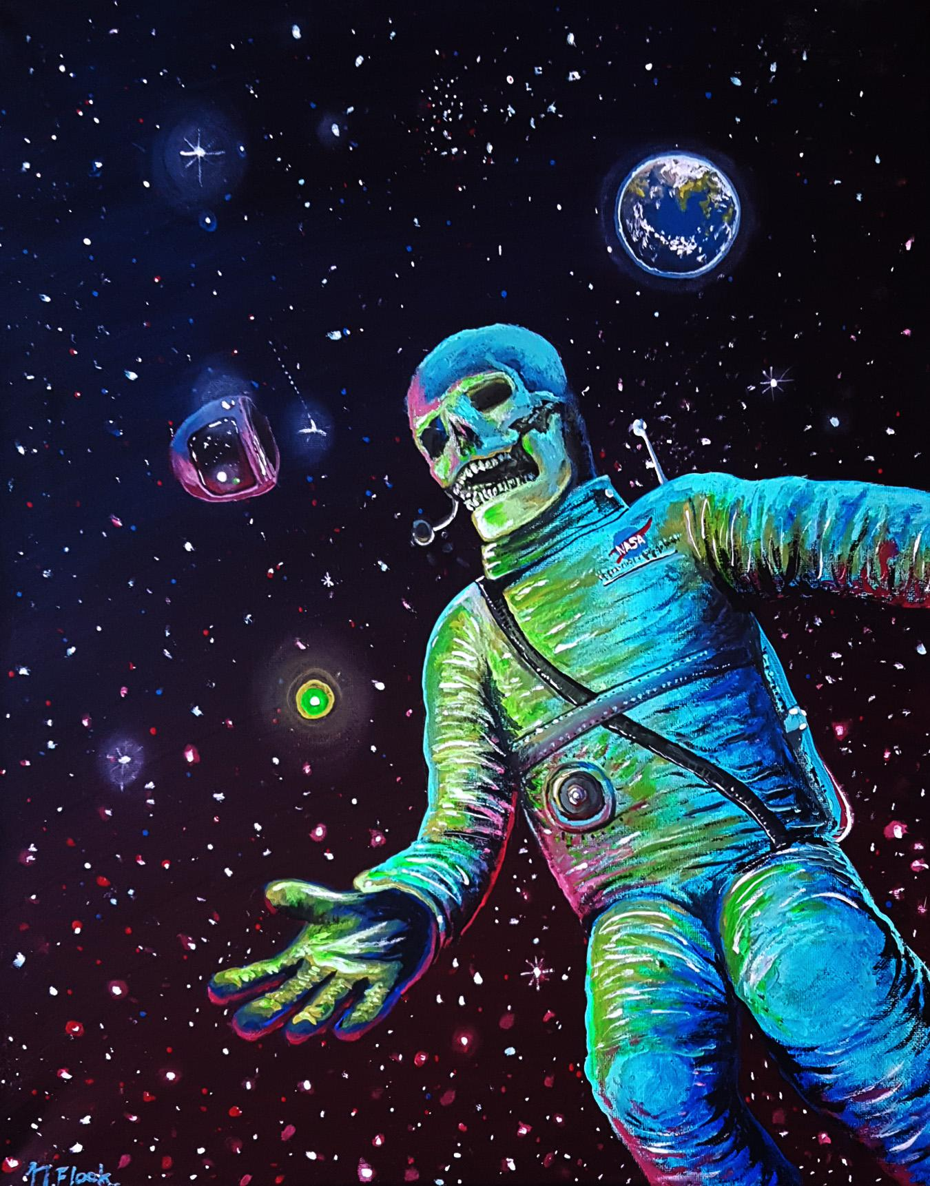 Lost In Space Acrylic Painting 16 X 24 Art