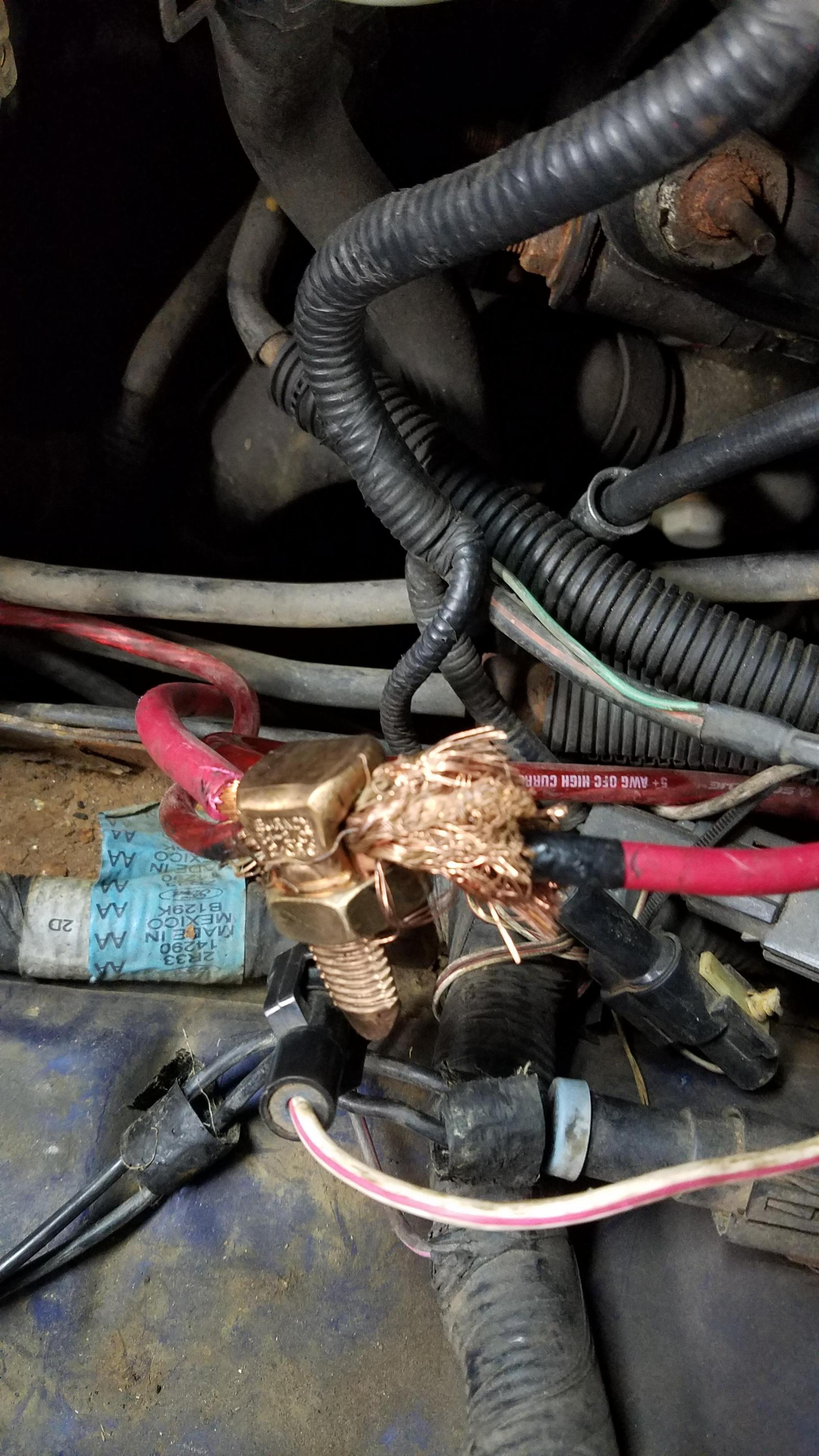 hight resolution of po relocated battery to trunk this is the battery alternator fusepo relocated battery to