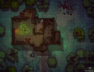 Witch s Cabin Battle Map 30x23 : Roll20
