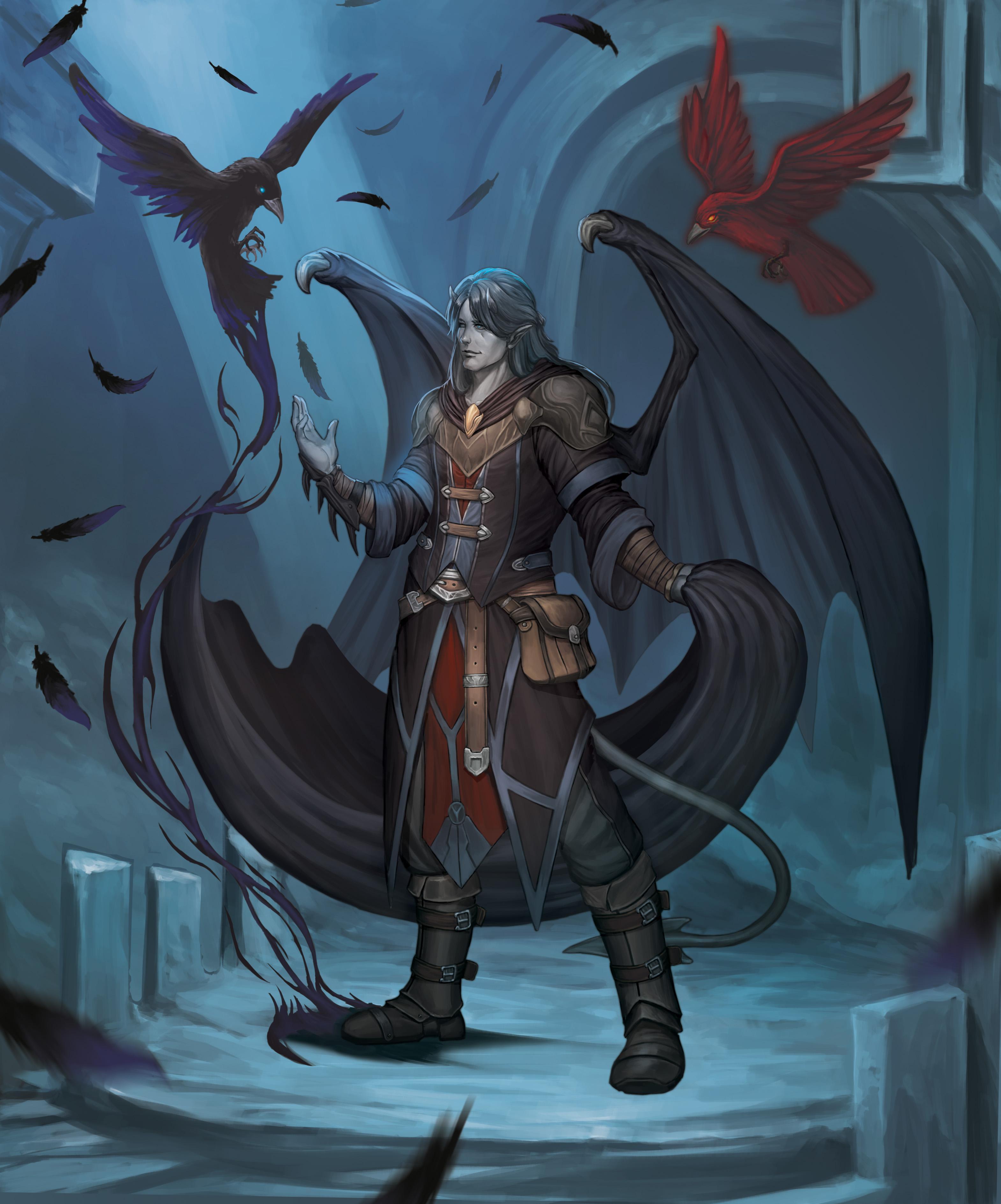 The Raven Queen : raven, queen, Draven,, Raven, Queen, Warlock, Tiefling, Birds,, Merula, Nevermore., Artist, Comments.
