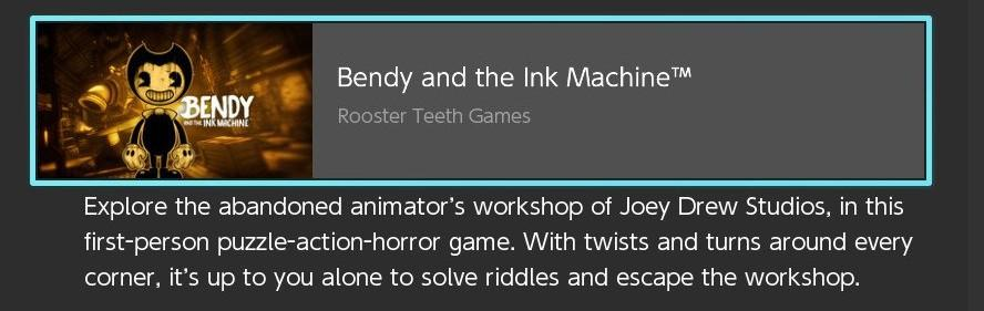bendy and the ink