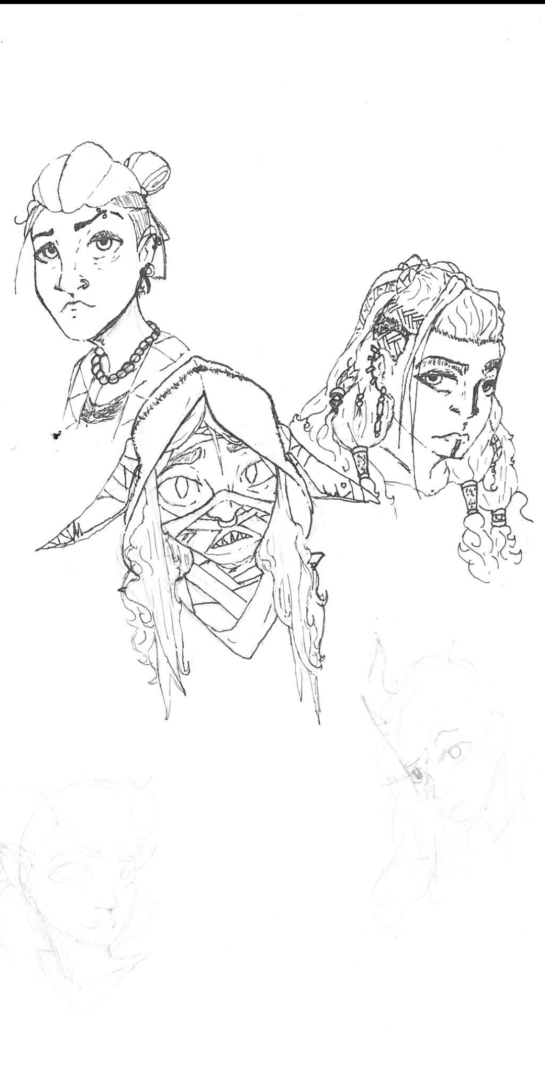 [No Spoilers] Work in progress fan art of Nott, beua, and