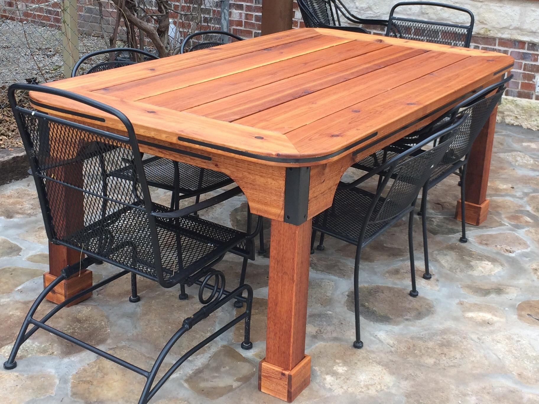 built this patio table out of cedar and