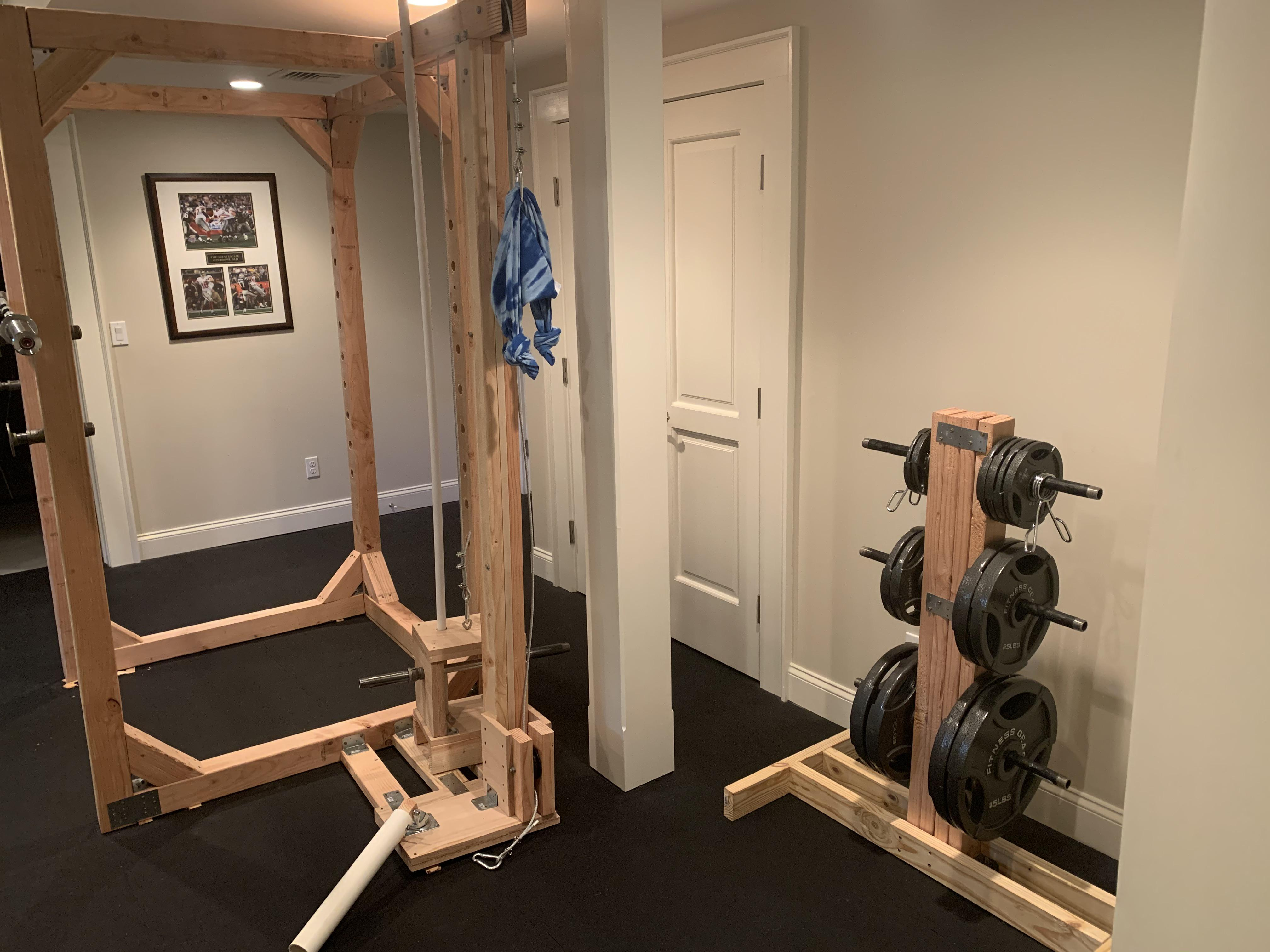 i built a squat rack weight tree and