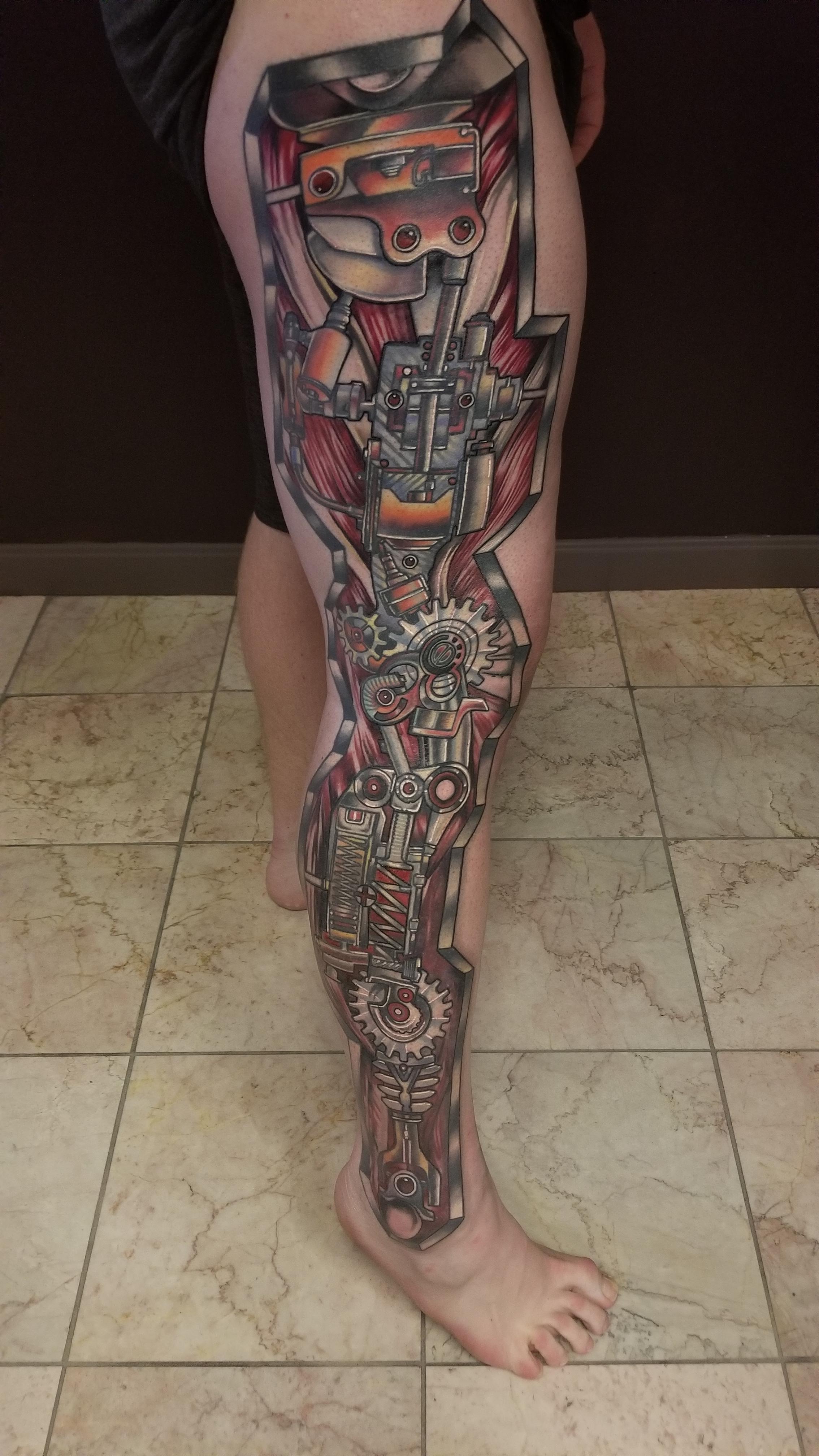 Biomechanical Leg Tattoo : biomechanical, tattoo, Biomechanical, Natan, Alexander, Witch, Salem,, Tattoos