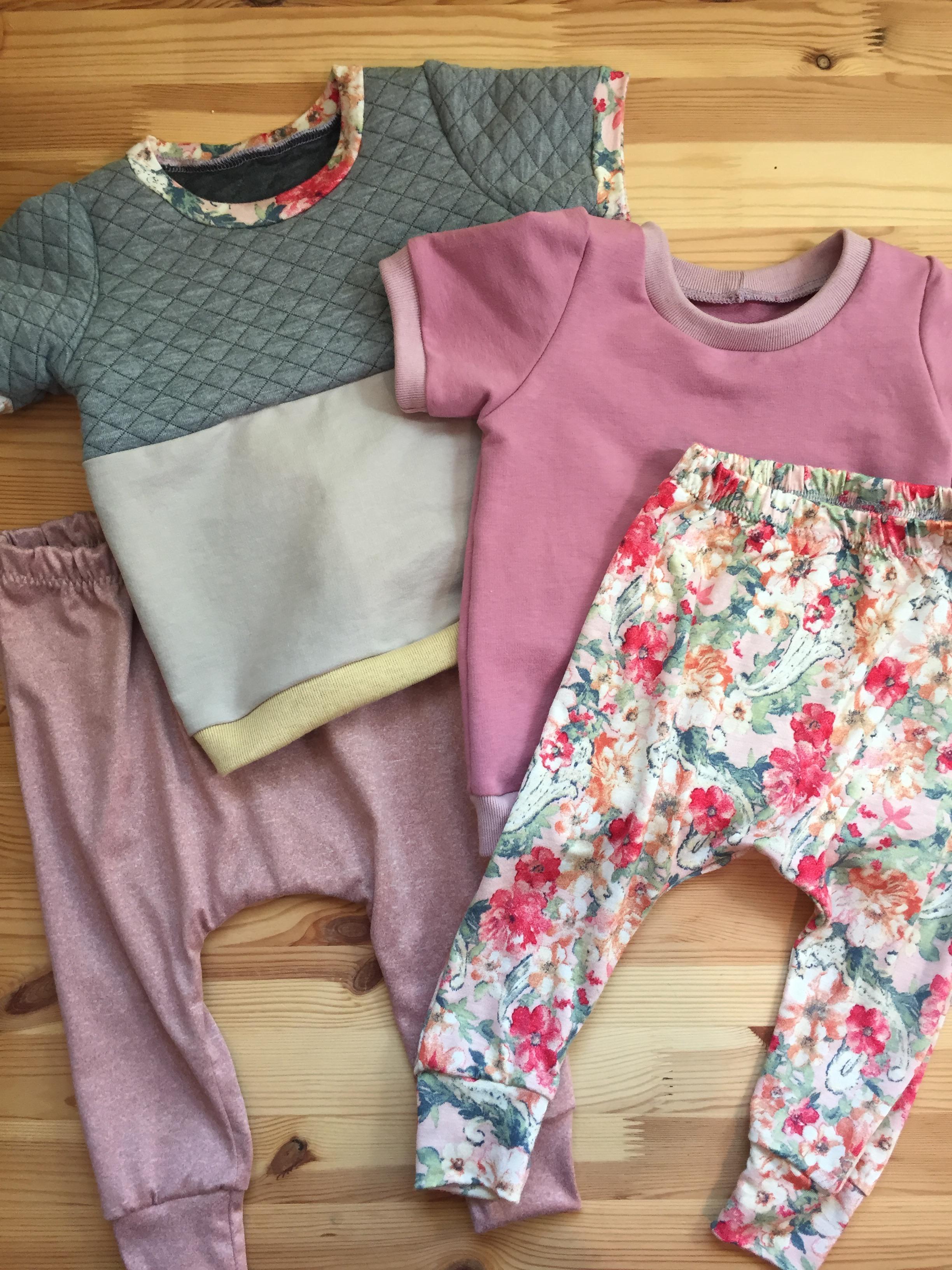 Brindle And Twig Patterns : brindle, patterns, Outfits, Little, Brindille, Patterns:, Super, Harem, Pants, Ringer, Assorted, Stash, Fabrics., Wardrobe, Sewing