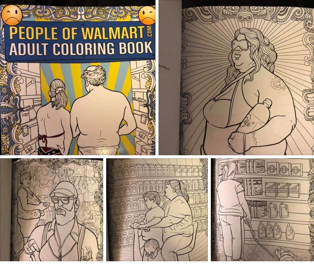 people of walmart coloring book. : mildlyinteresting
