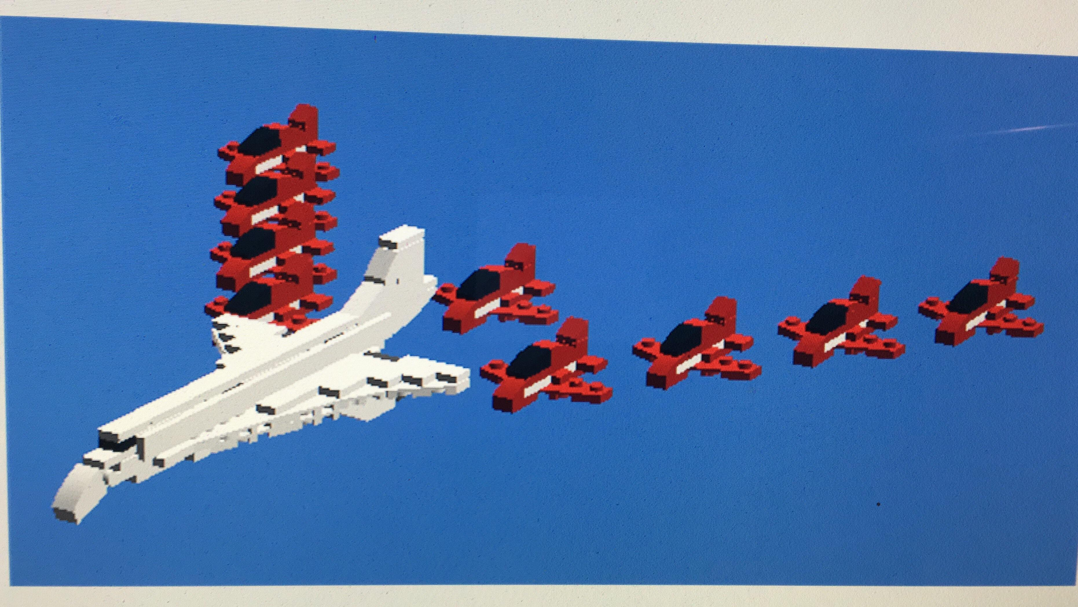 miniature red arrows and