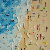"I saw this somewhere on the net, and fell in love with it. ""On the Beach"" by Alena Shymchonak"