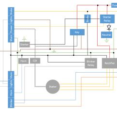 simplified 78 honda cb400t wiring diagram hondacb 78 cb400 wiring diagram [ 1344 x 1008 Pixel ]