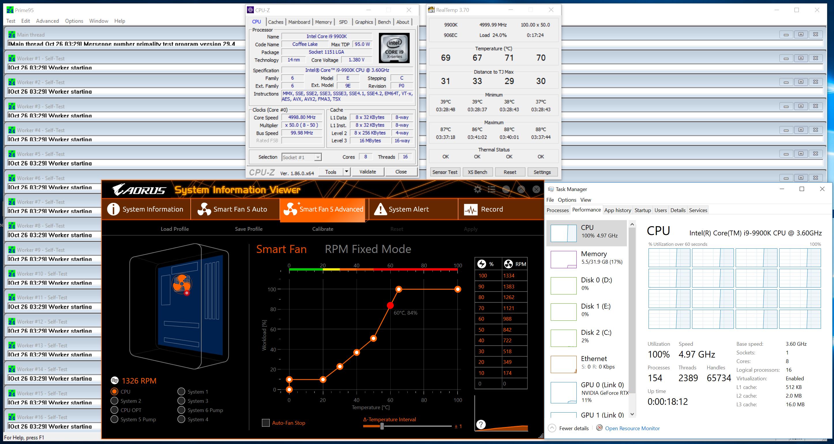 9900k 5ghz runs cool