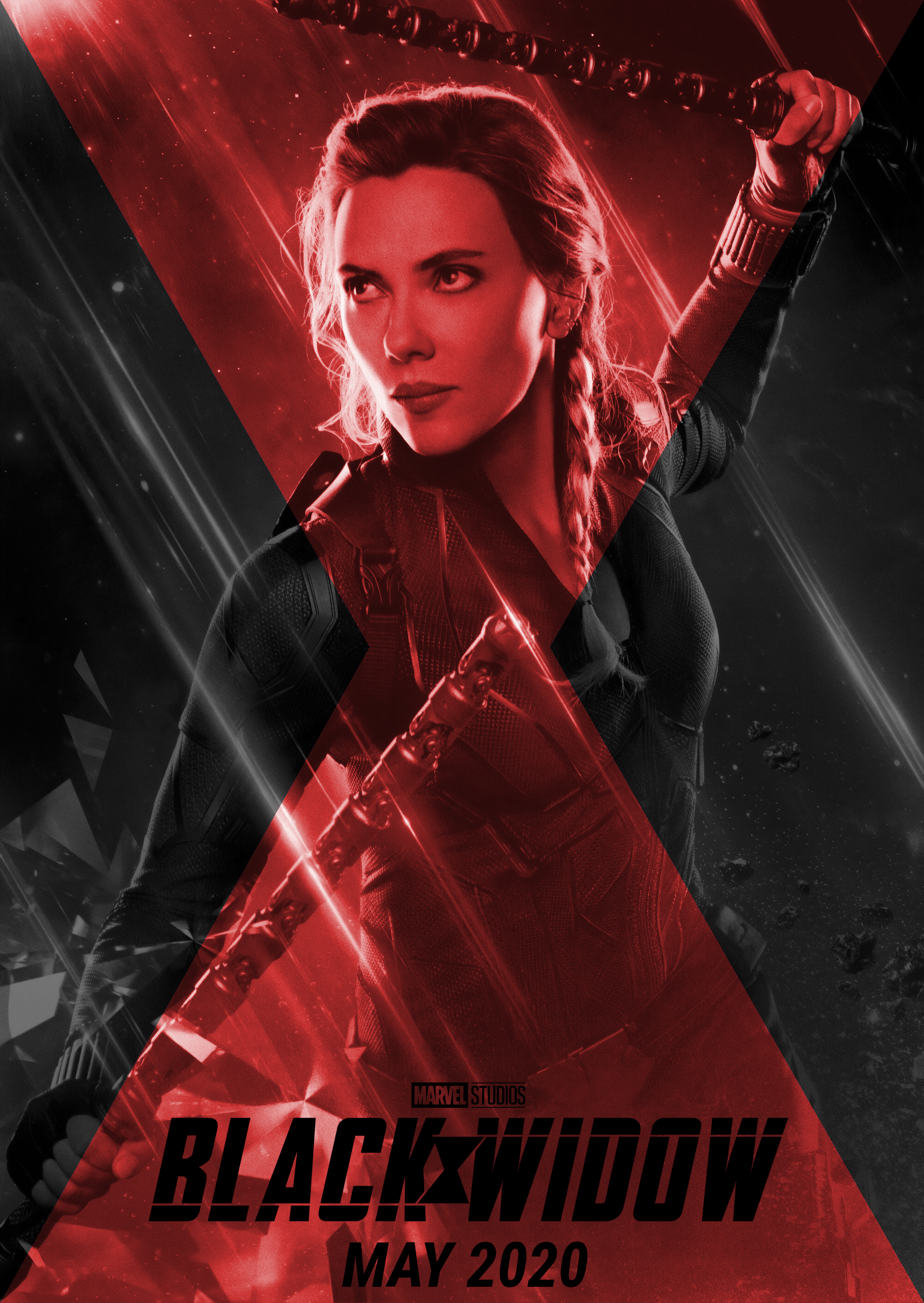 black widow poster made from endgame