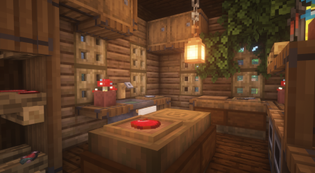 A small rustic kitchen for my swamp base : Minecraft