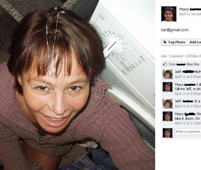 Mom Accidentally Uploads Facial