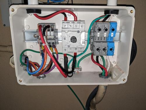 small resolution of inverter ac wires inverter disconnect box