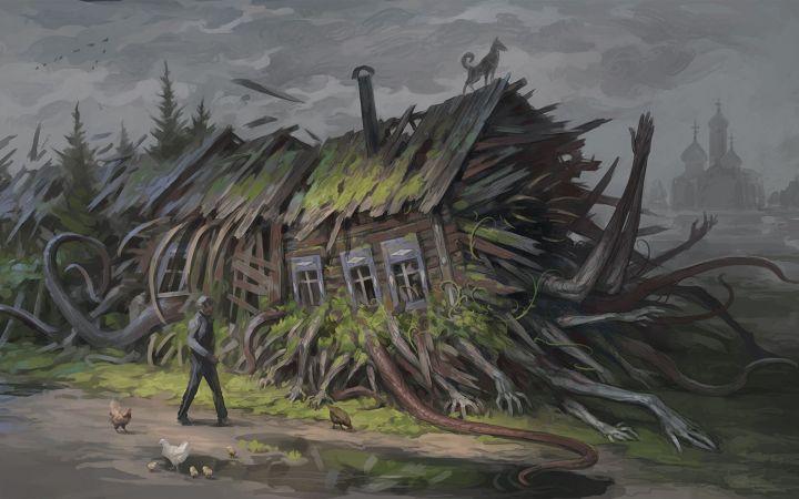 Creeping House by Denis Zhbankov [1920 x 1200]