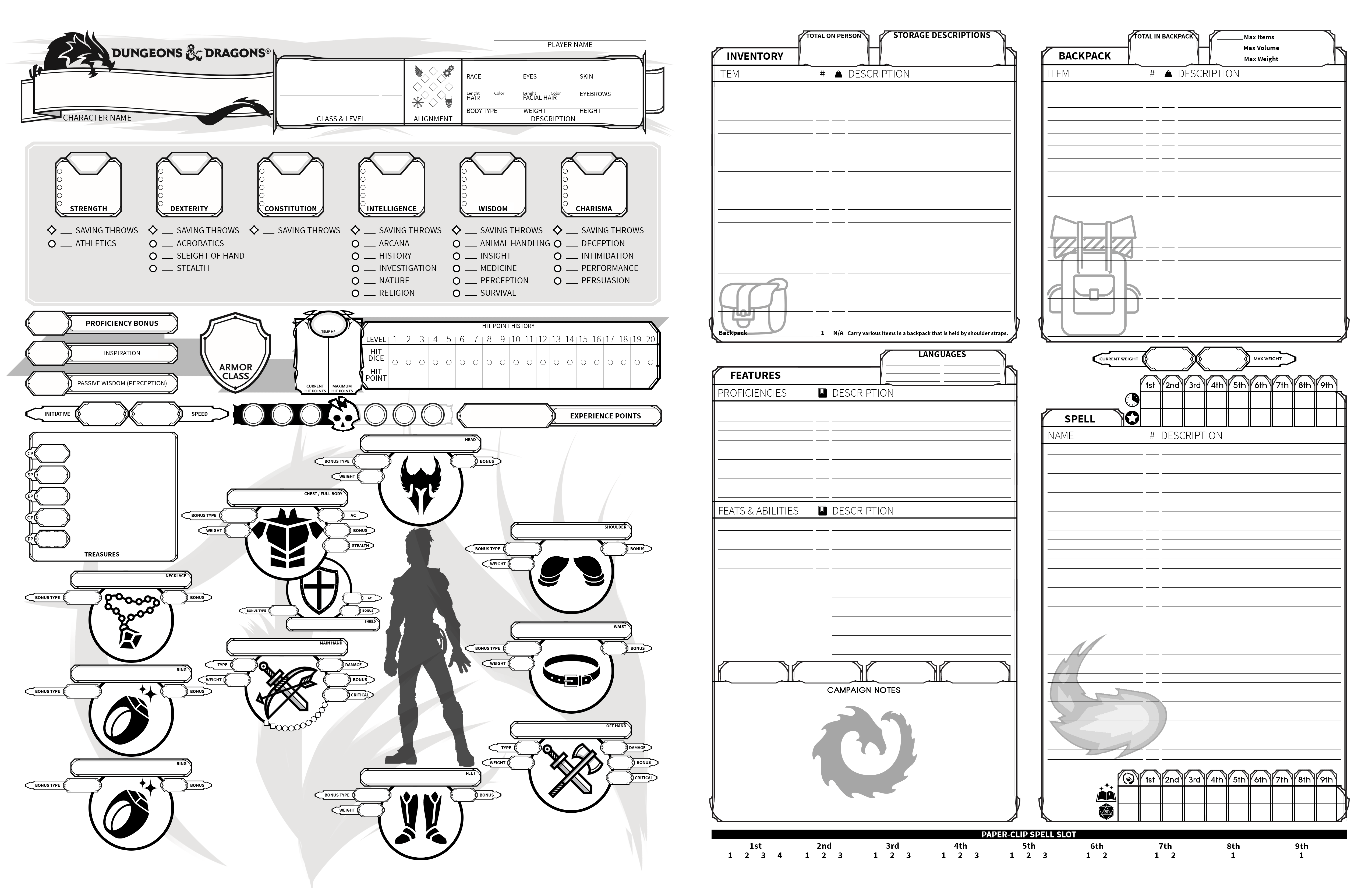 [OC] First final version of my Custom Character Sheet for