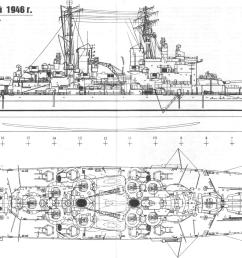 4900 x 2250 soviet drawing of hms vanguard the last ever commissioned battleship  [ 4900 x 2250 Pixel ]