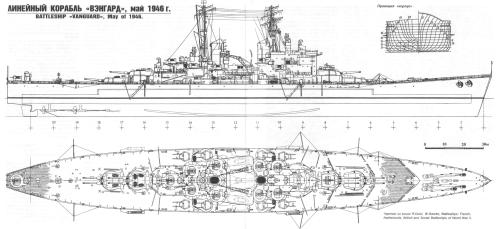small resolution of  4900 x 2250 soviet drawing of hms vanguard the last ever commissioned battleship