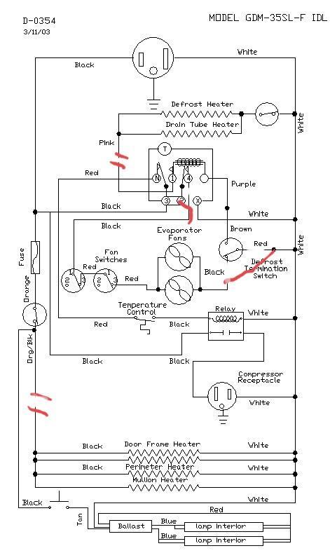 True GDM-35F wiring convert to Cooler : appliancerepair
