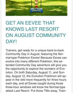 Community day eevee gets last resort also move thesilphroad rh reddit