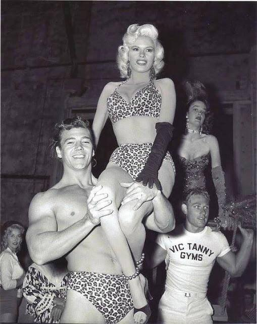 Jayne Mansfield and her husband Mickey Hargitay at a costume party ...
