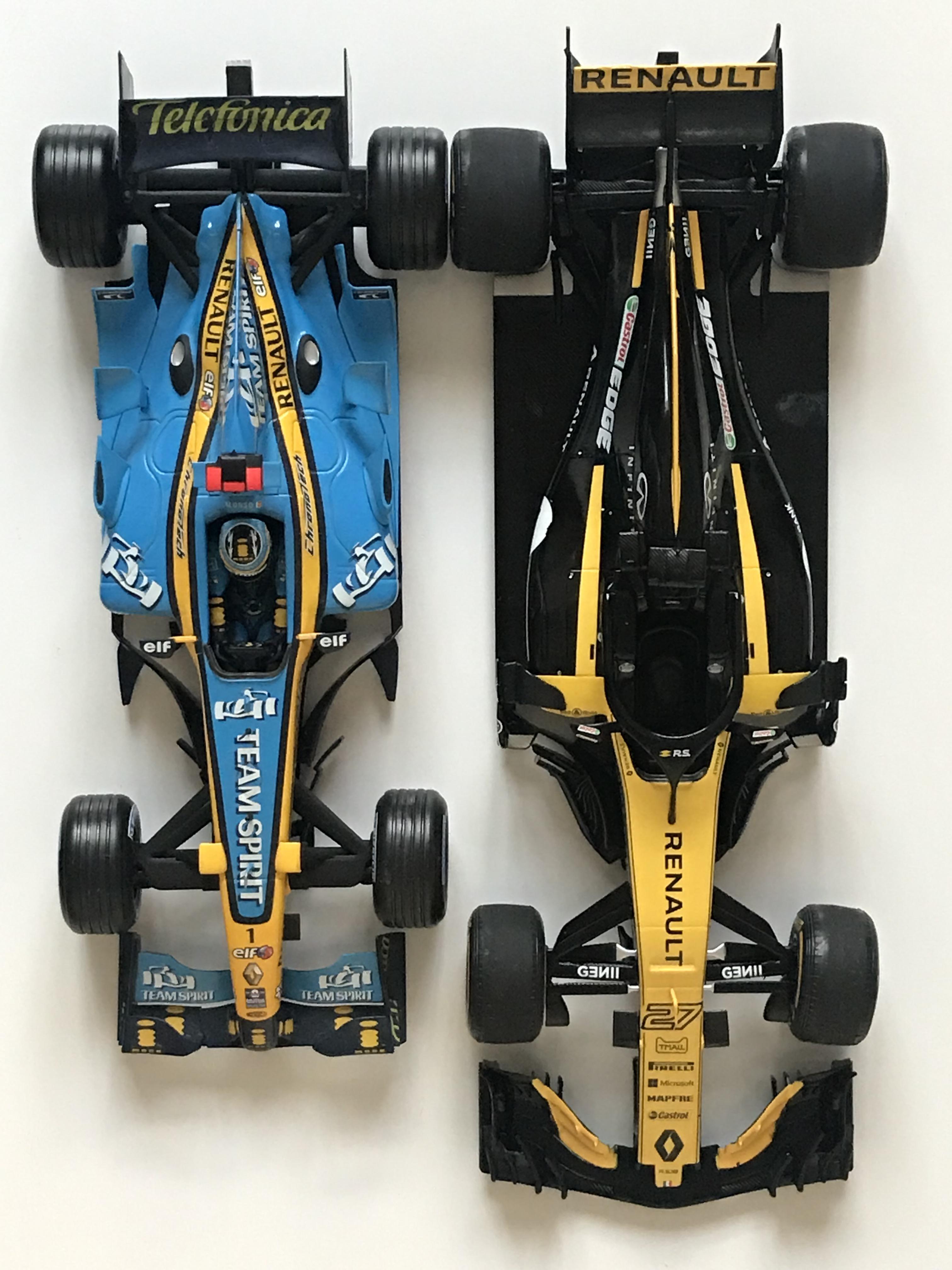 F1 Car Size Comparison : comparison, Renault, Today., Decided, Comparison., (1:18, Scale), Formula1