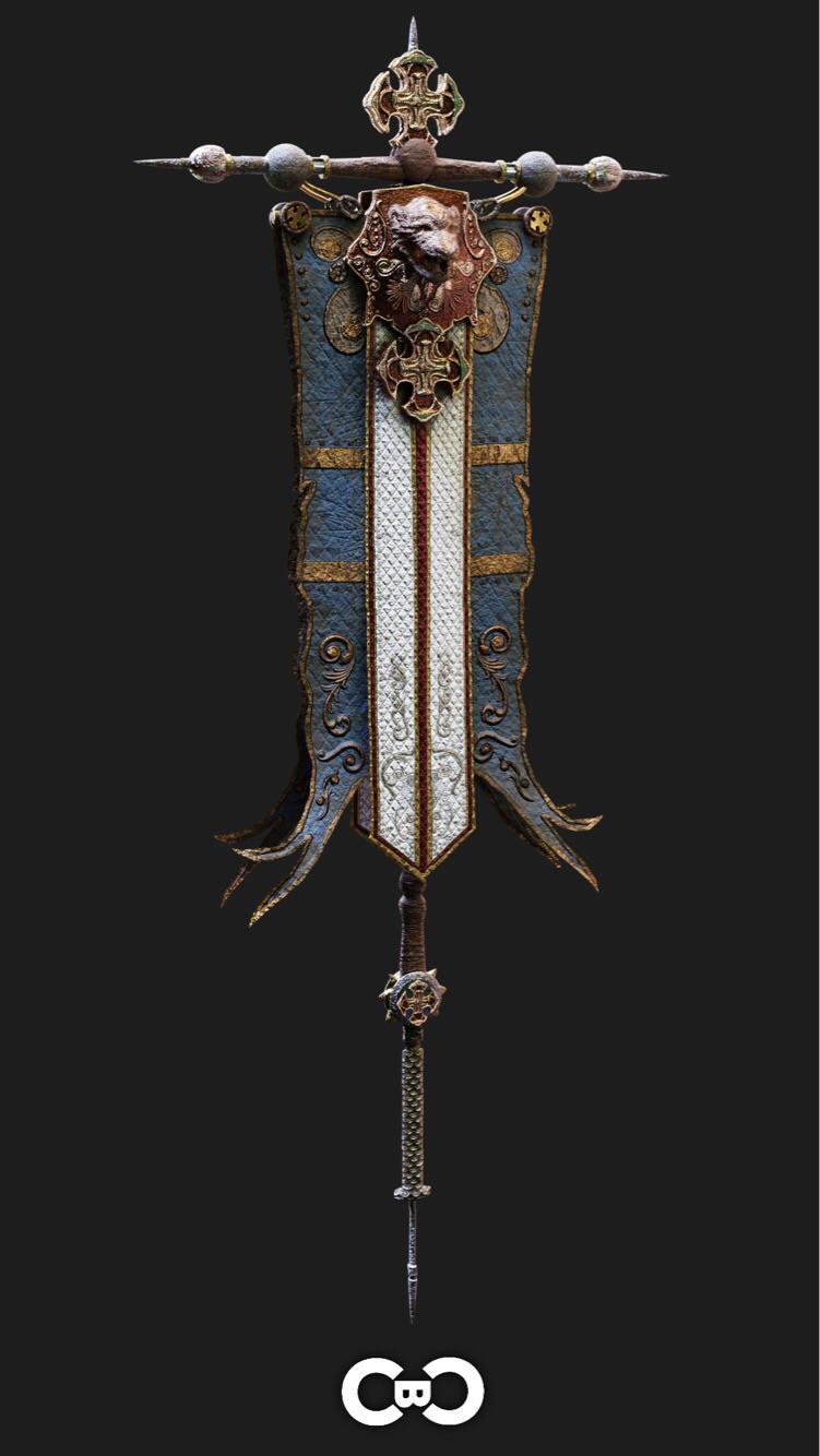 fantasy banner 3dmodeling