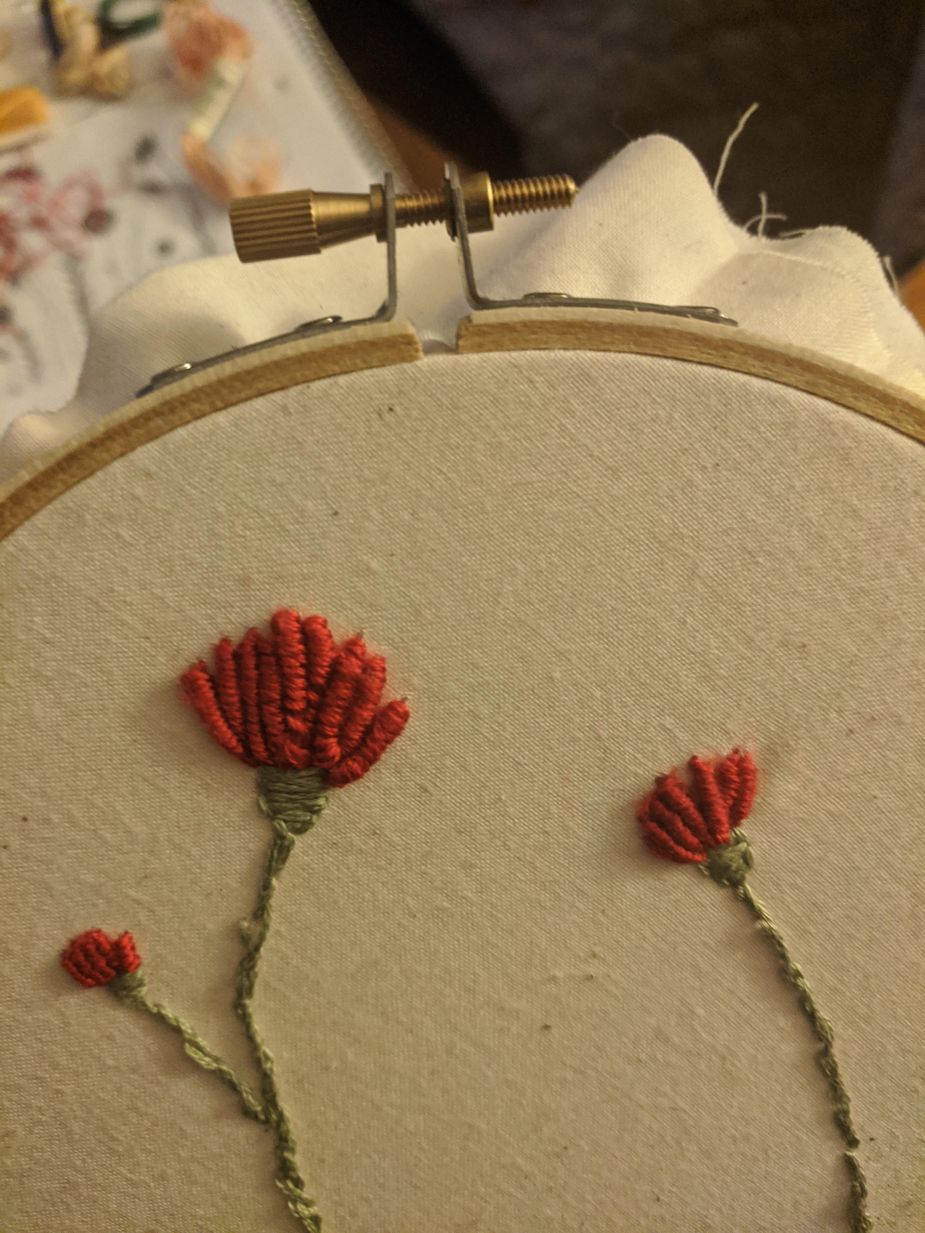 Bullion Stitch Embroidery : bullion, stitch, embroidery, First, Bullion, Stitches!, Embroidery
