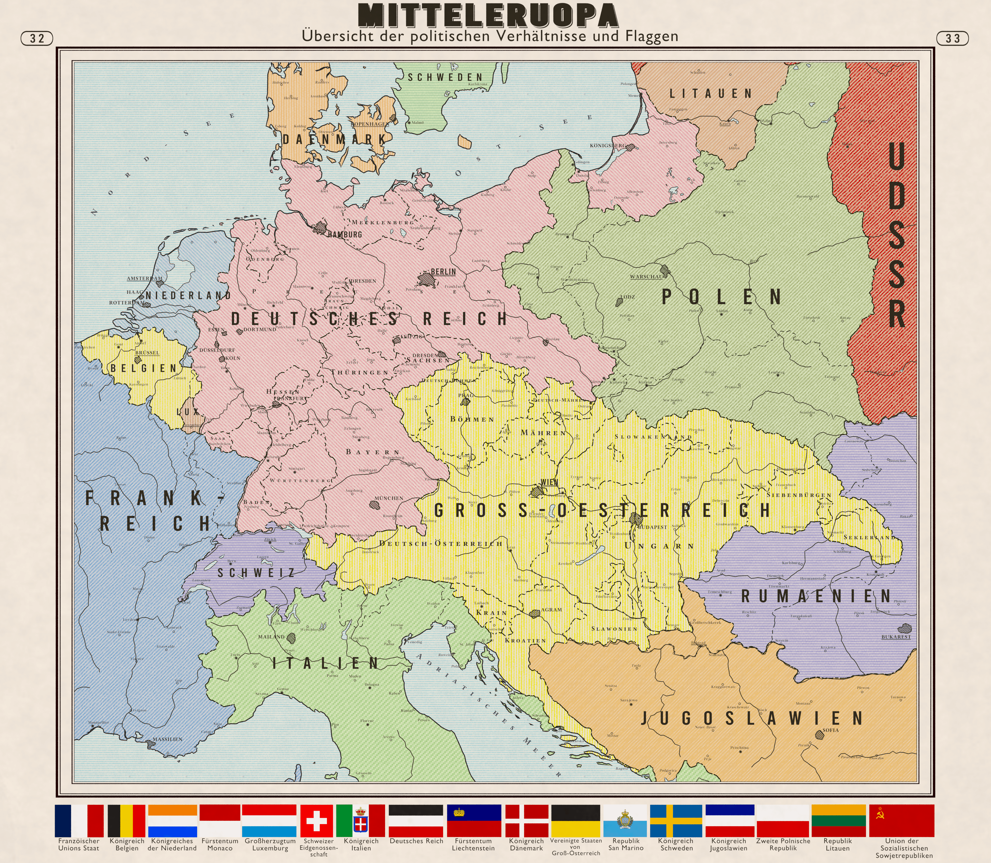 Political Map Of Central Europe In Imaginarymaps