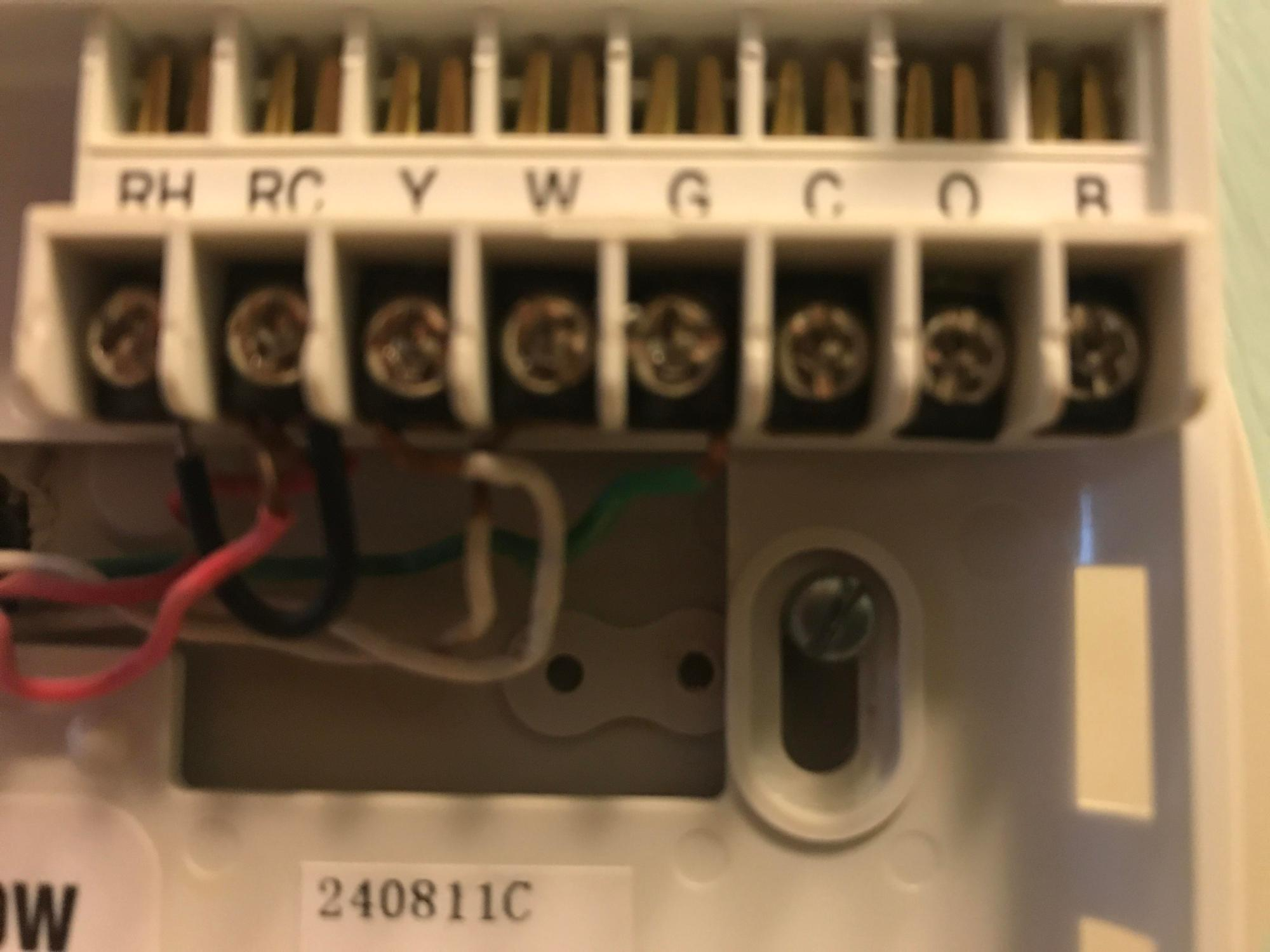 hight resolution of nest e old thermostat has a jump wire and two reds in rc nest nest thermostat r wire no power thermostat r wire