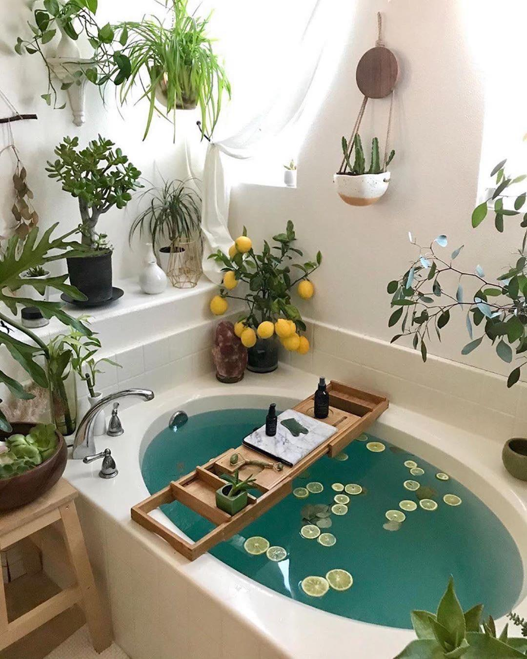 Beautiful Plant Filled Bathroom Showerplants