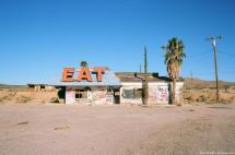 Abandoned Cafe In Mojave Desert. Las Vegas