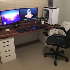 Nice Office Chair Reddit Tufted Corner Generic Ikea Setup V2 Battlestations