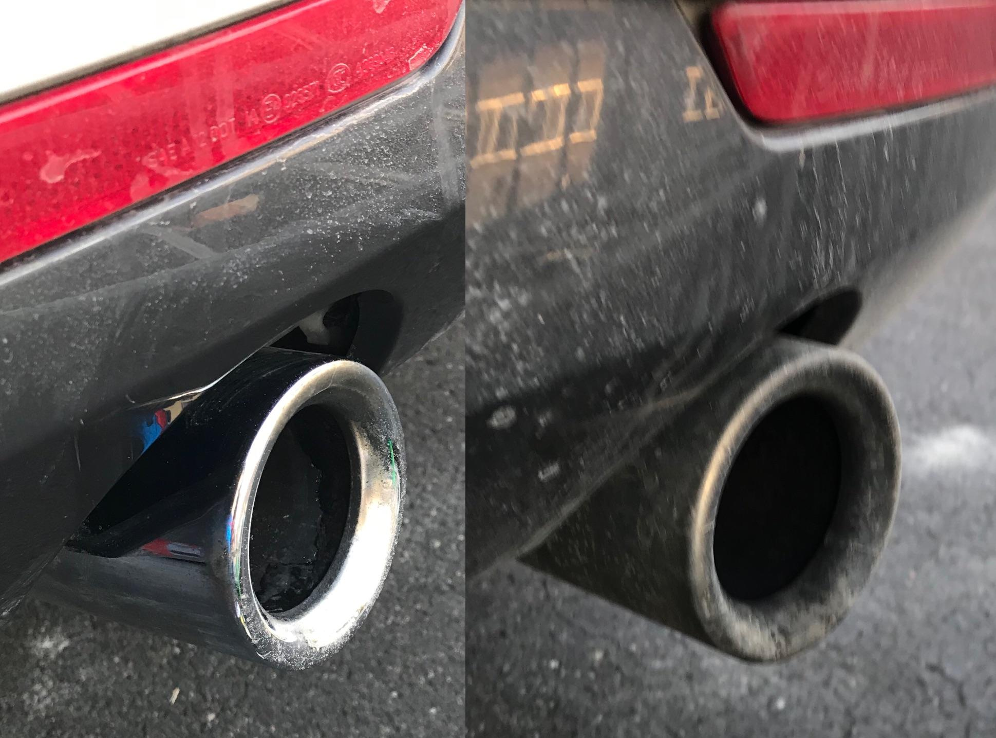 how do you guys clean your exhaust tips
