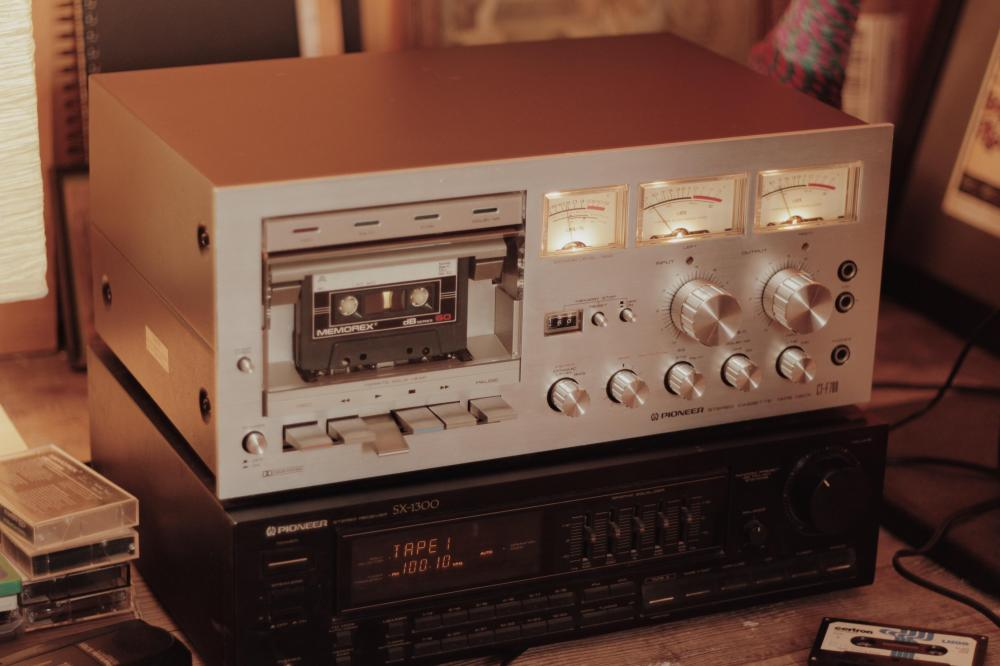 medium resolution of picked up my first tape deck pioneer ct f700 now i just need more tapes