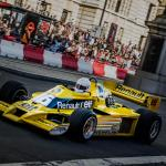 Rene Arnoux Driving His Renault Sport F1 Team Rs01 The Wrong Way Around The London Demo Circuit Formula1