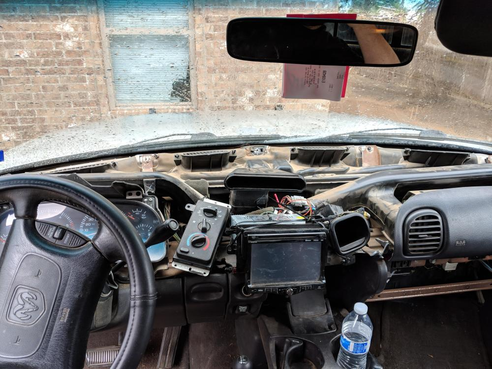 medium resolution of a while back i had to dig into the dash for a repair on my 99 dodge 1500 i ended up accidentally shattering the dashboard and i m currently going without